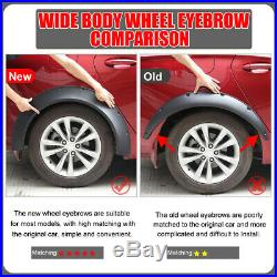 Universal 4pcs 3.1/80mm Flexible Car Fender Flares Extra Wide Body Wheel Arches