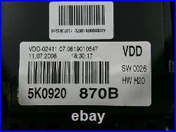 VW Golf 6 VI Instrument Cluster 5K0920870B Combination Device Tacho Petrol Mfa