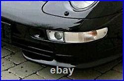 VW Golf Jetta MK3 3 Porsche 993 Black Euro E-Code Smoke Front Bumper Fog Lights