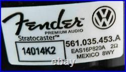 VW Golf VII 7 5G Fender Premium High End System Soundsystem SET