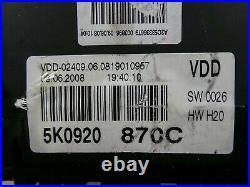 VW Golf VI 6 Tdi Instrument Cluster Combinatorial Unit Mfa Speedometer 240km/H