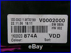 VW Golf V Plus I 1,4TSI Instrument Cluster Mfa Check Package Tacho 1K0920874A