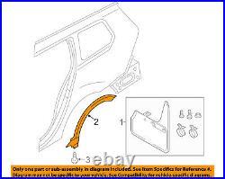 VW VOLKSWAGEN OEM Wheel Well-Fender Flare Arch Molding Left 5G98538179B9