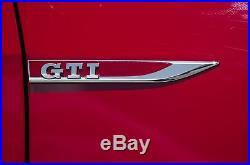 Volkswagen Vw Golf Mk7 New Genuine Side Fender Gti Chrome Badge Left+right Set