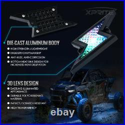 Xprite 8 Pods LED Rock Lights Underbody Music Dancing Bluetooth ATV UTV Boat 4WD